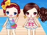可爱双胞胎姐妹